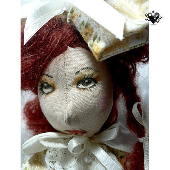 SALE 40% OFF - Sour Cream Girl OOAK Art Doll