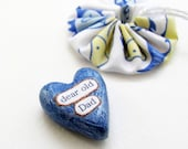 Clay Heart Sentiment with Fish Gift Pouch- New Dad,  Father's Day, Gift For Him