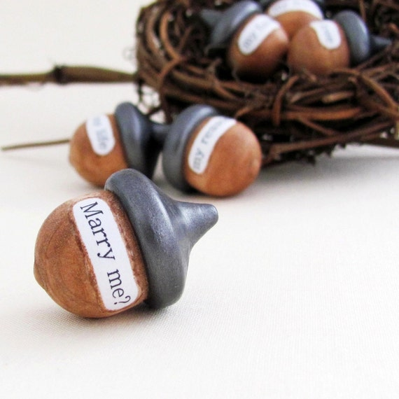 Wedding Acorn Centerpiece- Cake Topper- Proposal Gift Idea