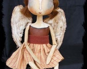 Terrafae - A Feary from Peach Street Folk Art Doll ADO
