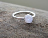 Simple Rainbow Moonstone Ring - SALE - size 5.75