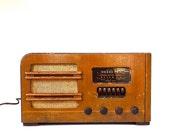 Vintage Wood Table Top Airline Radio