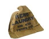 Vintage Reno Nevada Army Green Laundry Bag