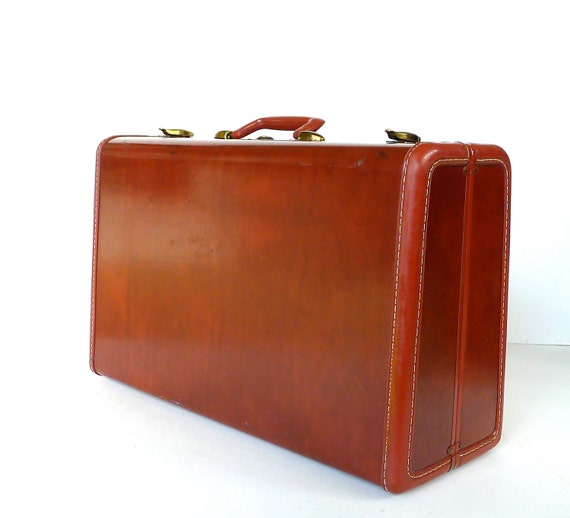 Vintage Samsonite Suitcase Mauve Lavender Interior with Key