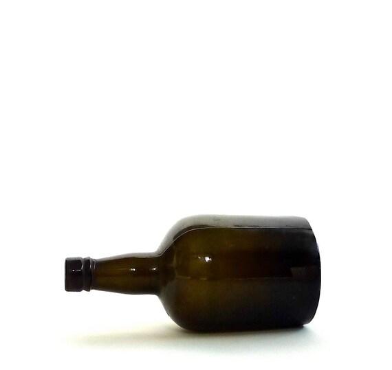 Antique Black Glass Bottle