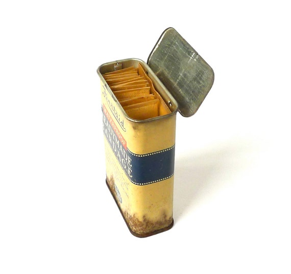 Rexall First Aid Bandage Tin 1940s