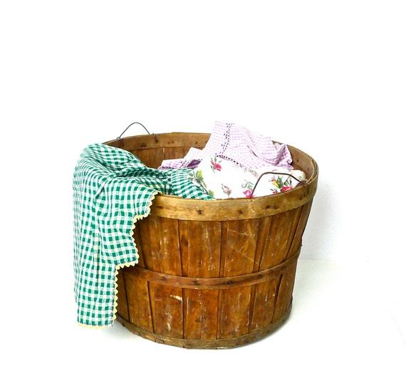 Vintage Wood Bushel Basket