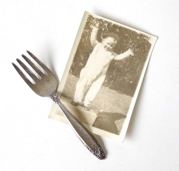 International Sterling Prelude Baby Fork Engraved Patty Lee