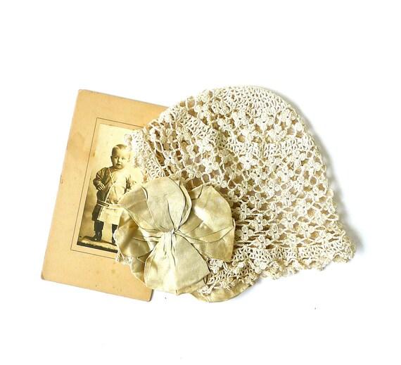 Antique Crochet Baby Cap