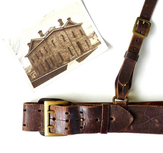 Vintage Sam Browne Belt Pre-WWII Era Size 30