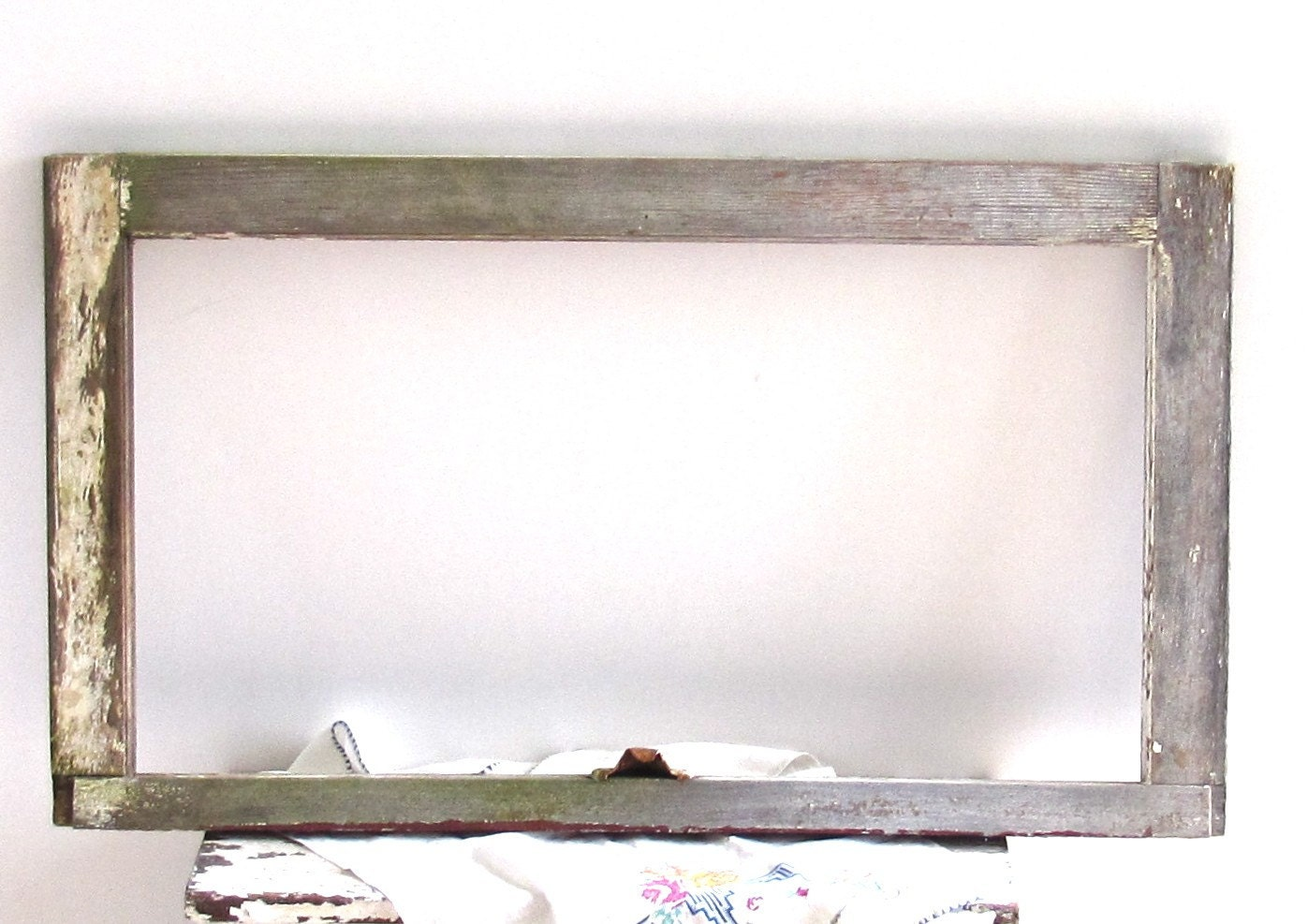 Old House Wood Window Frame Farmhouse Chic Mirror by ...
