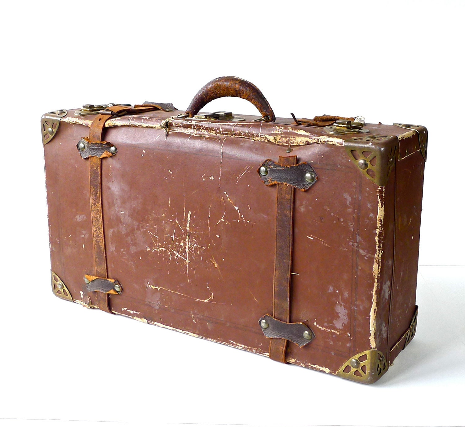 Antique cardboard poor man 39 s suitcase - Vintage suitcase ...