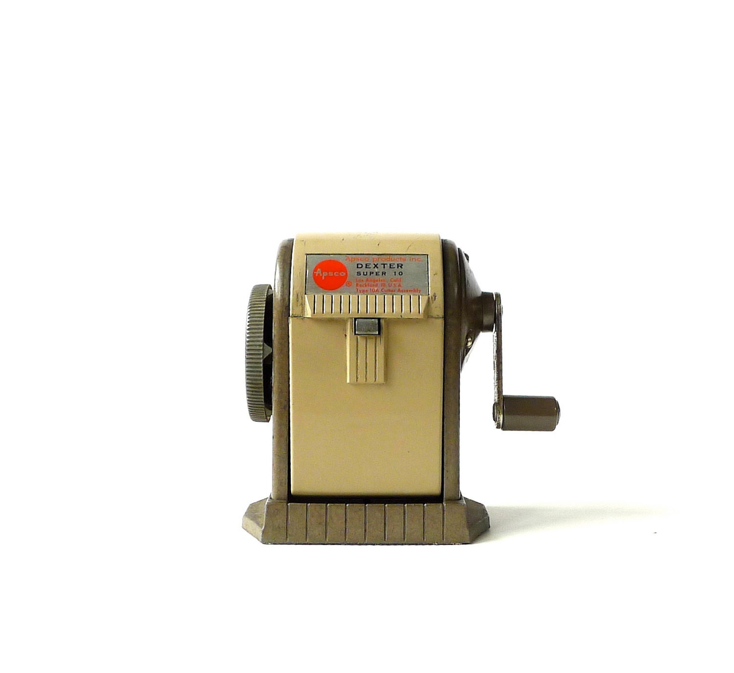 Vintage Apsco Dexter Super 10 Pencil Sharpener By Marybethhale