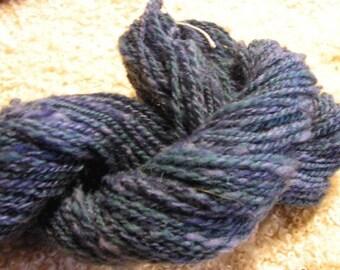 Y0156 Lagoon Shadows Hand Spun Hand Dyed Yarn 2 Ply 100 yards