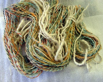 Y240 Hand Dyed Hand spun Transitioning Yarn Multi Color and Texture