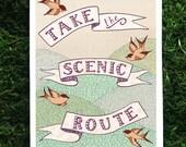 Scenic Route 5x7 print