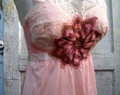 A Place in the Sun... repurposed vintage slip dress embellished with heirloom laces from down de bayou Medium