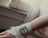 Storyville Serenade... lace and antique rhinestone buckle cuff from down de bayou fits all
