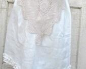 Ordering On HoldBayou Boho rustic ruffle linen skirt from down de bayou S M L Xl Plus