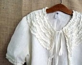 Ordering On Holdruffle jacket made to measure s m l xl and plus..the Mas de la lune en Provence  Bayou Boho in white linen ...sweet