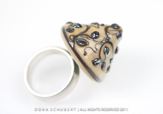 Forever Entwined - Interchangeable Glass Topper (cabochon) for Ring or Pendant