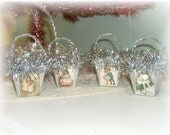 Vintage Inspired Shabby Chic Nut Cups / Ornaments / Favors / Decoration