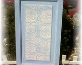 Beachy Blue Shabby and Chic Upcycled Vintage Door Wall Decor