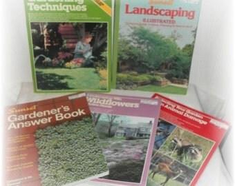 Set of 5 Vintage Gardening Books