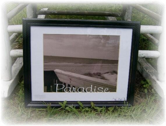 Framed Beach PARADISE Photogr