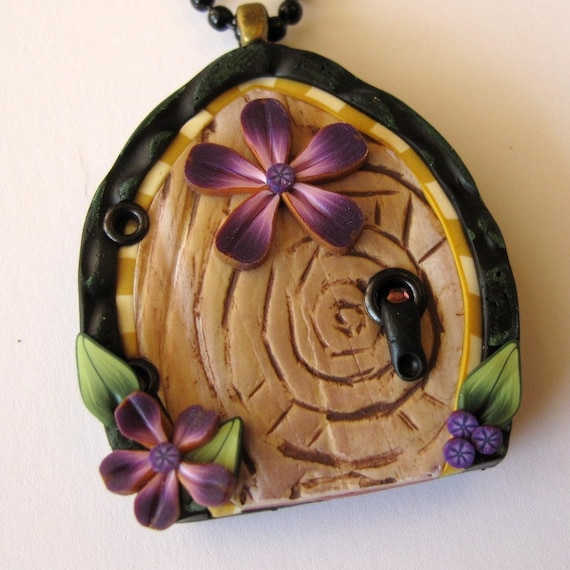 Flower Fairy Door Necklace