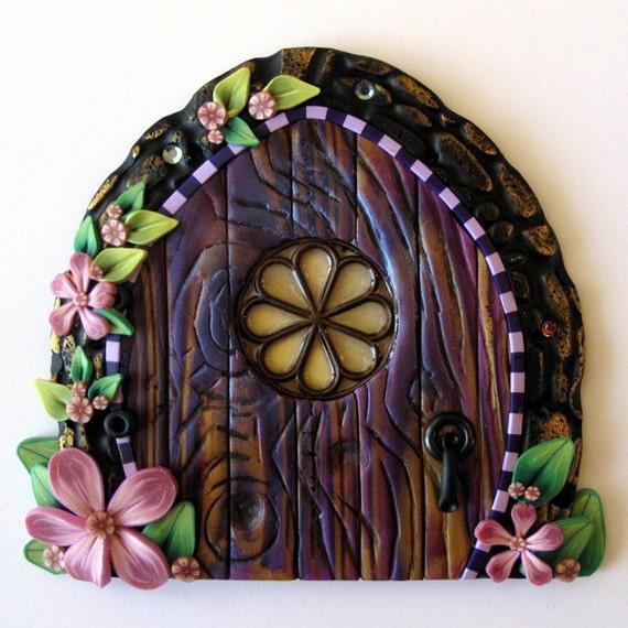 Purple cottage garden fairy door for Purple fairy door