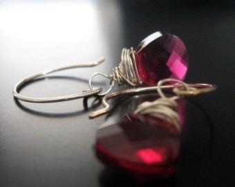 ruby tuesday ...swarovski crystal and sterling silver earrings