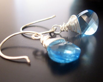 raindrops ... swarovski crystal and sterling earrings