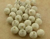 Tiny Distressed Vintage Plastic Rounds 6mm