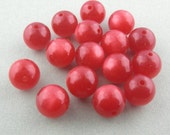 Vintage Blood Orange Moonglow Lucite Rounds 12mm