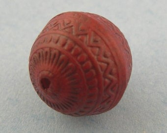Beautiful Deep Red Patterned Rounds