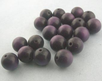 Vintage Purple Moonglow Lucite Rounds 11mm BULK LISTING