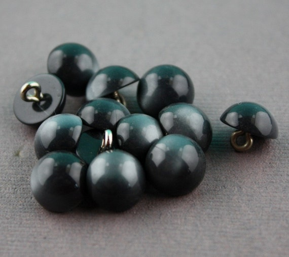 NEW Vintage Gray Black Moonglow Lucite Shank Buttons 10mm