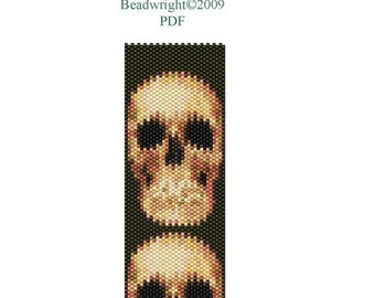 Bead Peyote Cuff Pattern Skull Face PDF Instant Download