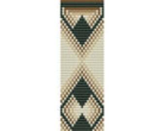Loom Pattern Diamonds Green PDF Instant Download