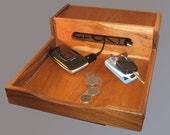 electronics organizer or phone station, cherrywood & walnut ON SALE 30% OFF