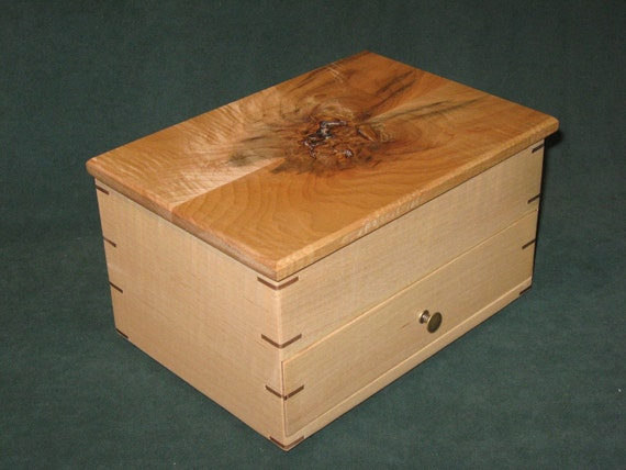 Jewelry box figured maple