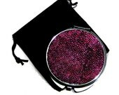 Magenta Metallic Stingray Compact Mirror - by UNEARTHED