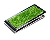 Lime Green Polished Stingray Money Clip - by UNEARTHED