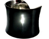Black Patent Leather Cuff Bracelet - by UNEARTHED