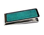 Aqua Polished Stingray Money Clip in Stainless Steel - by UNEARTHED