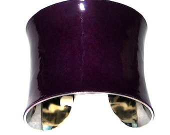 Purple Patent Leather Cuff Bracelet - by UNEARTHED