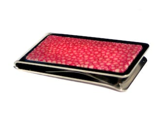 Pink Polished Stingray Money Clip - by UNEARTHED