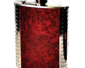 Metallic Red Stingray Stainless Steel Flask - by UNEARTHED