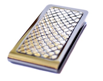Silver Metallic Snakeskin Money Clip - by UNEARTHED